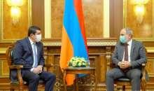ԱՀ նախագահ Արայիկ Հարությունյանը Երևանում հանդիպել է ՀՀ վարչապետ Նիկոլ Փաշինյանի հետ