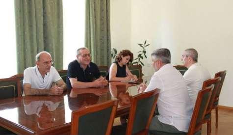 Արցախի Հանրապետության Ազգային ժողովի նախագահ Արթուր Թովմասյանը հյուրընկալել է ՌԴ-ում Արցախի մշտական ներկայացուցիչ Ալբերտ Անդրյանին
