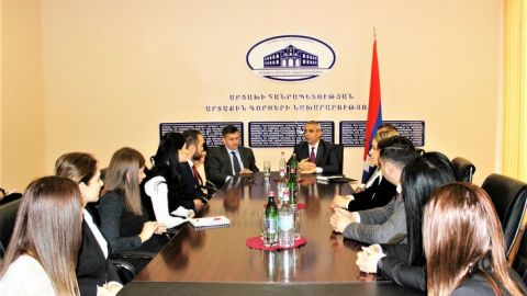 Foreign Minister of Artsakh Received Junior Diplomats of the Foreign Ministry of Armenia