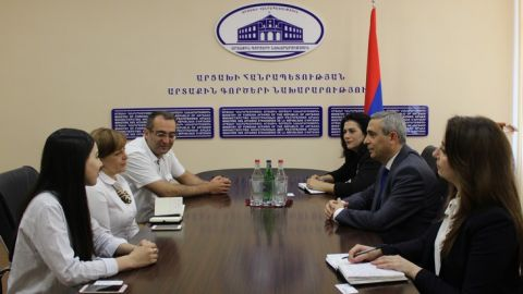 Artsakh Foreign Minister Received the Delegation of Transparency International Anticorruption Center