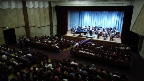 President Bako Sahakyan attended the concert of the Hamburg German Academic Philharmonic Orchestra held in the Stepanakert Culture and Youth Palace