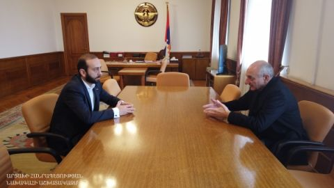 Meeting with chairman of the Armenian National Assembly Ararat Mirzoyan