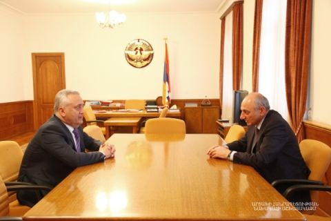 President received chairman of the Armenian Central Bank Arthur Javadyan