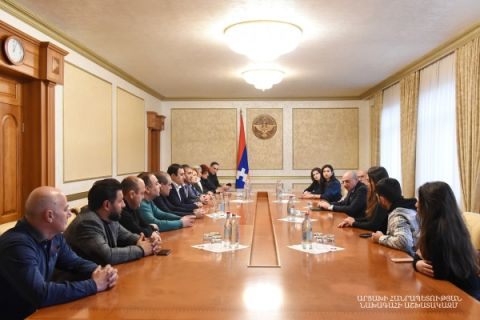 Meeting with the delegation of Ukrainian entrepreneurs of Armenian origin