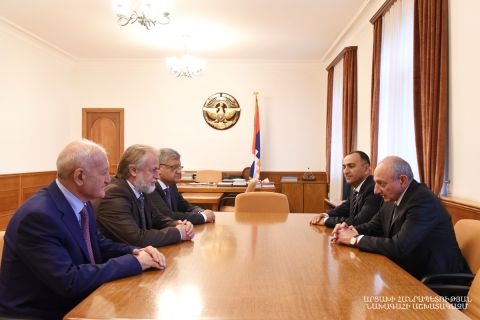 President Bako Sahakyan received the delegation of the Republic of Armenia Urban Development Committee led by its chairman Vahagn Vermishyan