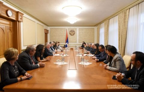 Meeting with members of the USA delegation