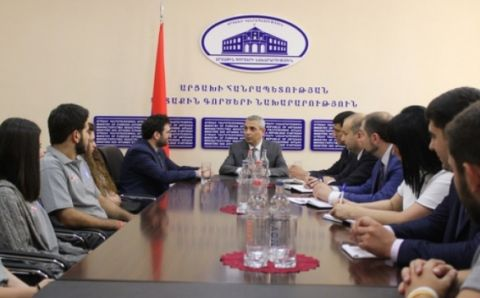 Artsakh Foreign Minister Received the Delegation of Haigazian University, Lebanon