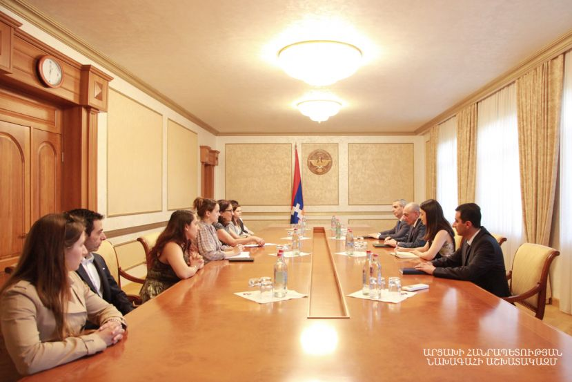 President Bako Sahakyan received a group of American students of Armenian origin doing the Armenian Assembly of America (AAA) summer internship program