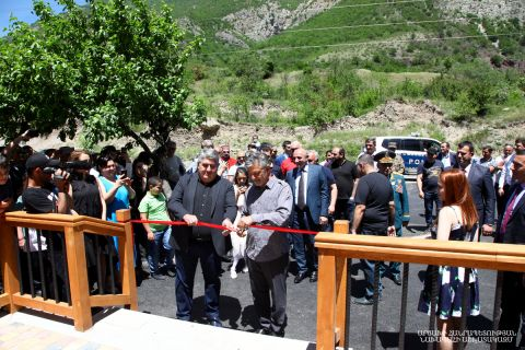 "President Bako Sahakyan attended in the Nor Getashen community of the Shahoumyan Region the opening ceremony of the ""Ari Resort"" resort complex"