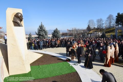 Solemn ceremony of opening the bust of philanthropist Levon Hayrapetyan
