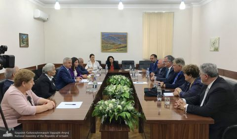 Delegation of Canada Hosted in the Artsakh Parliament