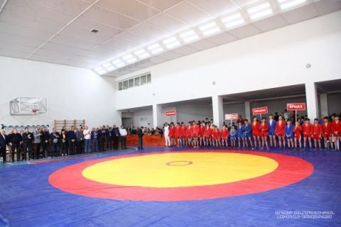 "Solemn opening ceremony of the ""Victory Cup"" International Junior Sambo Championship"