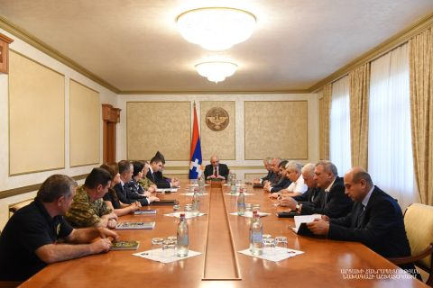 President Bako Sahakyan convened an enlarged consultation