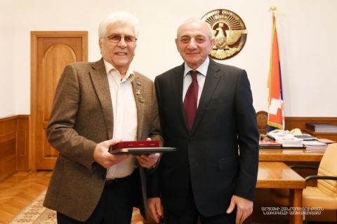 Meeting with Peoples Artist of the Republic of Armenia, composer Robert Amirkhanyan