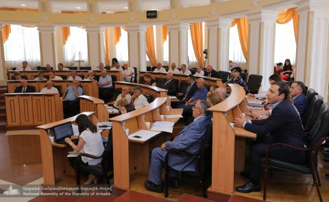 Extraordinary Sitting Convened in the Republic of Artsakh Parliament