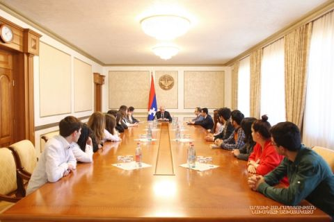 Meeting with young actors of the Stepanakert State Dramatic Theater