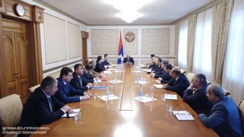 Consultation with the participation of the heads of the regional administrations and the mayor of Stepanakert