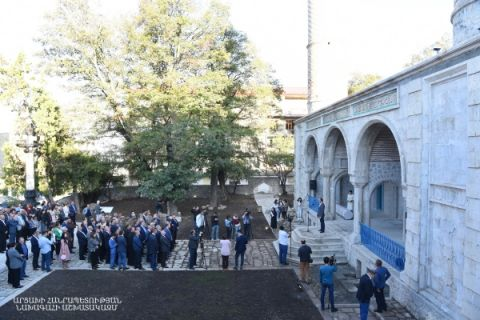 The ceremony of opening the Armenian-Iranian Scientific-Cultural Center in the town of Shoushi