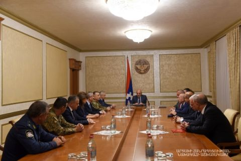 Military rank of lieutenant-general conferred to the Artsakh Defense minister, commander of the Defense Army