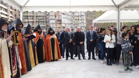 President Sahakyan partook in events dedicated to the 5th anniversary of International School and founding a new church in Dilijan