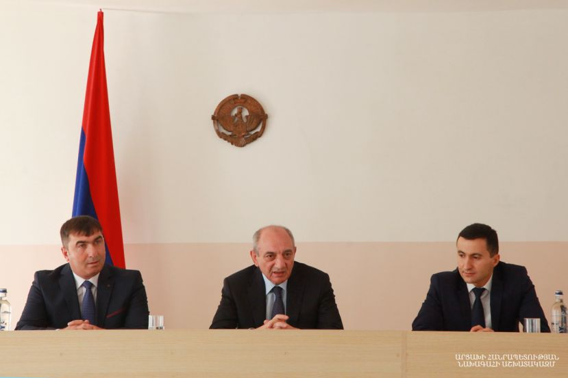 Artsakh Republic President Bako Sahakyan approved the Government's decision on releasing Mher Ohanyan from the post of the head of the Martouni regional administration upon his own request
