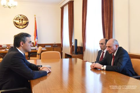 President Bako Sahakyan received Human Rights Defender of the Republic of Armenia Arman Tatoyan