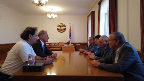 Meeting with Robert Emmiyan and Vahram Tadevosyan
