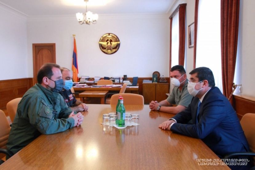 Arayik Harutyunyan received Armenian Defense Minister Davit Tonoyan