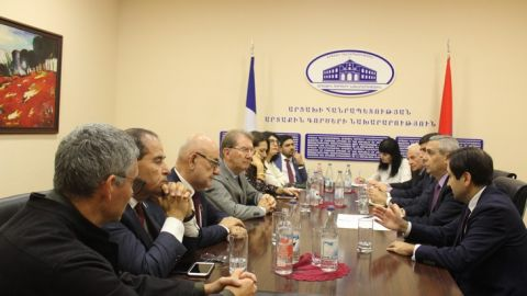 Foreign Minister of the Republic of Artsakh Masis Mayilian Received the Parliamentary Delegation of France