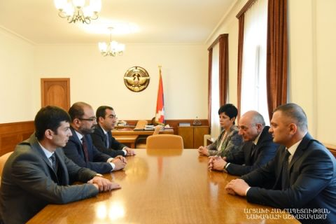 Meeting with rector of the Armenian National Agrarian University Vardan Urutyan