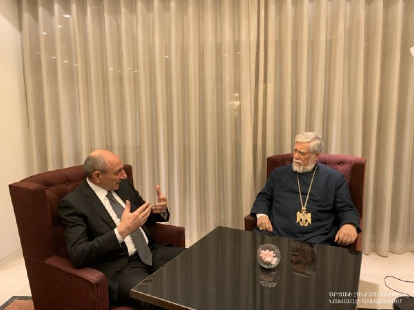 Meeting with Catholicos of the Great House of Cilicia Aram I