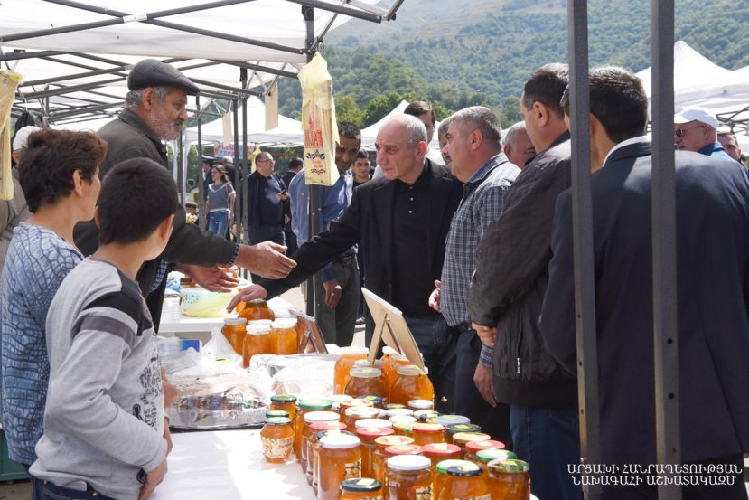 Artsakh honey festival in the town of Karvachar