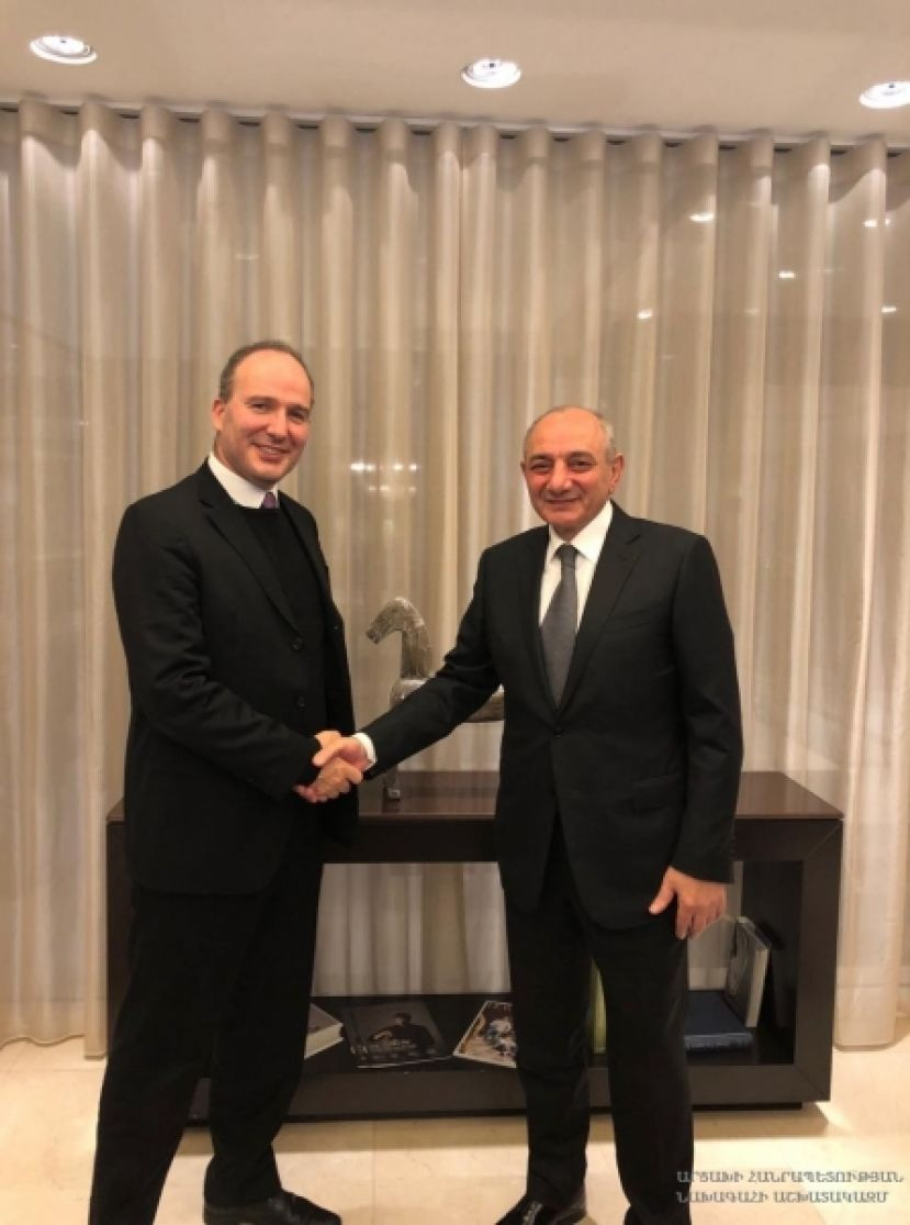 President had a meeting in Brussels with director of AGBU Europe Nicolas Tavitian