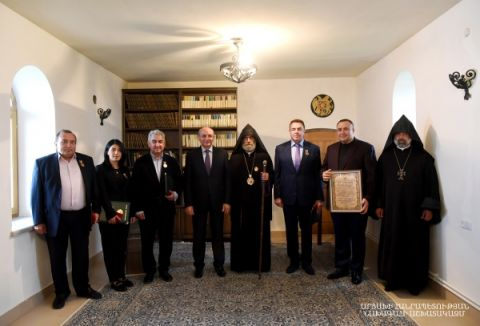 Liturgy and awarding ceremony in the Gandzasar Monastic Complex