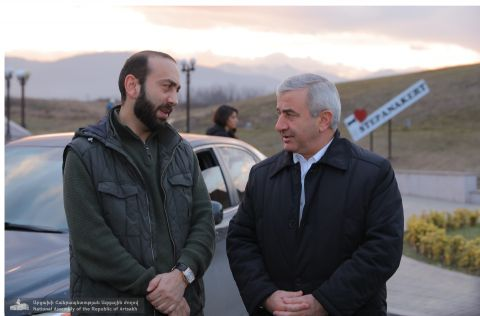 President of the Republic of Armenia National Assembly Ararat Mirzoyan and Delegation of the Inter-Parliamentary Cooperation Committee Arrived in Stepanakert