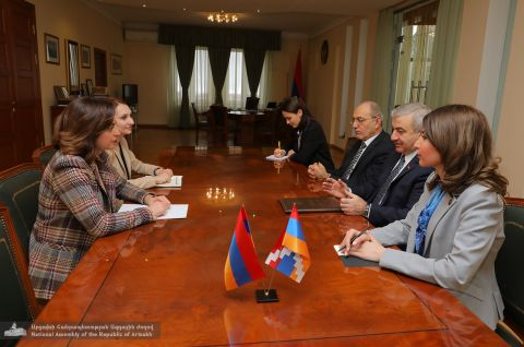 "President of the Parliament Received the RA National Assembly Vice-President and the Head of the ""My Step"" faction"
