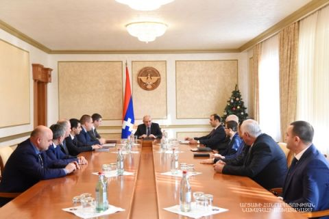 "Meeting with a group of employees of the ""Artsakh Energo"" company"
