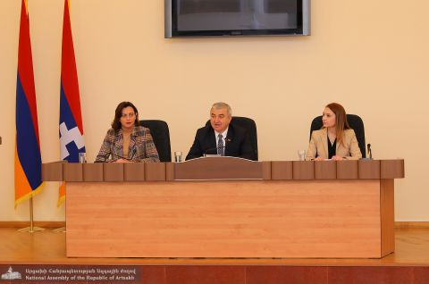 """My Step"" Republic of Armenia NA Faction Members Hosted at the Republic of Artsakh Parliament"