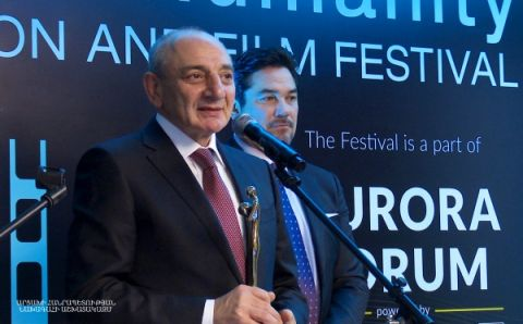 "President Sahakyan partook in Yerevan at a festive event organized within the framework of ""Reforming the World"" film festival"