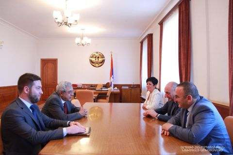 Artsakh Republic President Bako Sahakyan received director of Matenadaran Vahan Ter-Ghevondyan