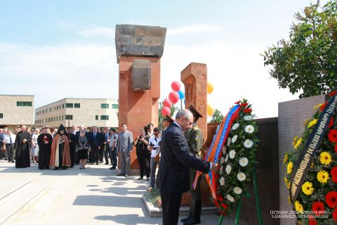 Artsakh Republic President Bako Sahakyan in connection with the Day of Perished for Motherland