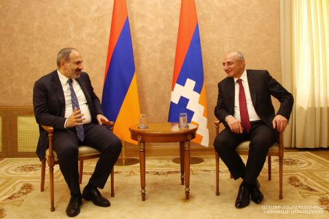 Meeting of the Artsakh Republic President Bako Sahakyan with the Armenian Republic Prime- Minister  Nikol Pashinyan