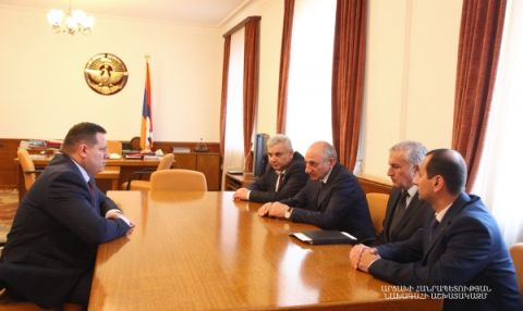 Meeting chairman of the Investigative Committee of the Republic of Armenia Hayk Grigoryan