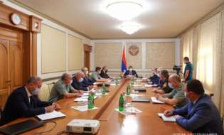 Artsakh Republic President Arayik Harutyunyan chaired the inaugural meeting of the Security Council