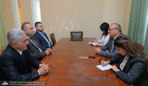 Head of the Parliament Met with the Representatives of the Three Extra-Parliamentary Forces