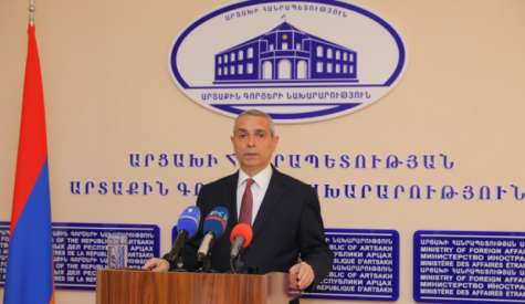 Annual Press Conference of Foreign Minister of the Republic of Artsakh Masis Mayilian