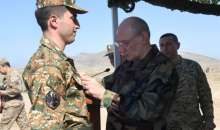 President Sahakyan was present at the Defense Army strategic military maneuvers