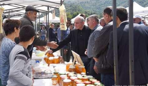 Artsakh honey festival in the town of Karvachar