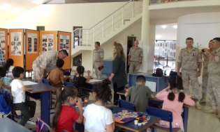THE CHILDREN OF ARTSAKH CONGRATULATED THE PEACEKEEPERS ON RUSSIA DAY