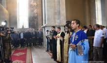 Baptize ceremony in the Ghazanchetsots church of Christ the Savior.